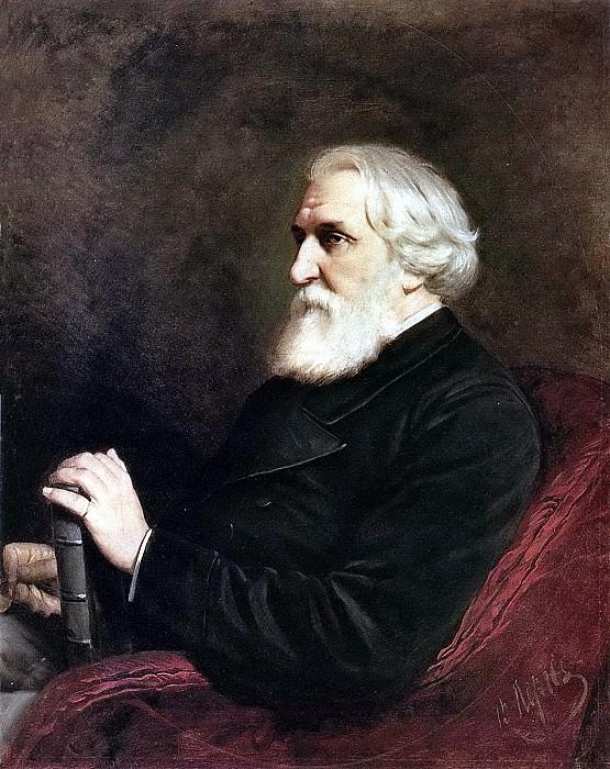 Портрет писателя Ивана Сергеевича Тургенева. 1872 Х. , м. 102x80 ГРМ. Василий Григорьевич Перов