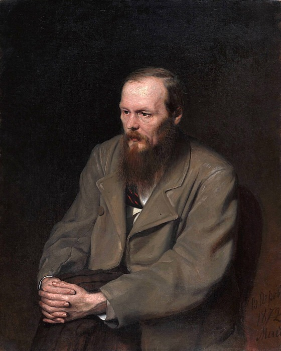 Portrait of F.M. Dostoevsky (1821-1881). Vasily Perov