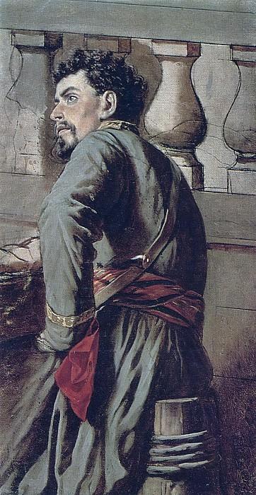 Казак. 1873 Х. , м. 57, 5х30 ГТГ. Василий Григорьевич Перов