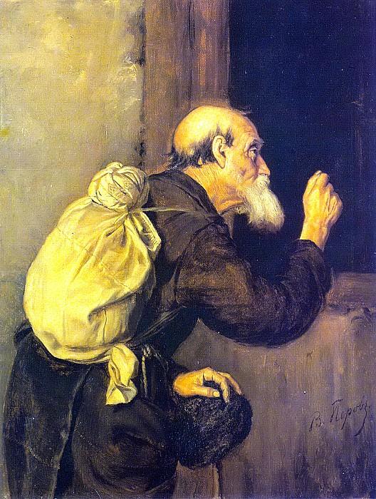Wanderer. 1869 H., M. 48x40 Lugansk. Vasily Perov