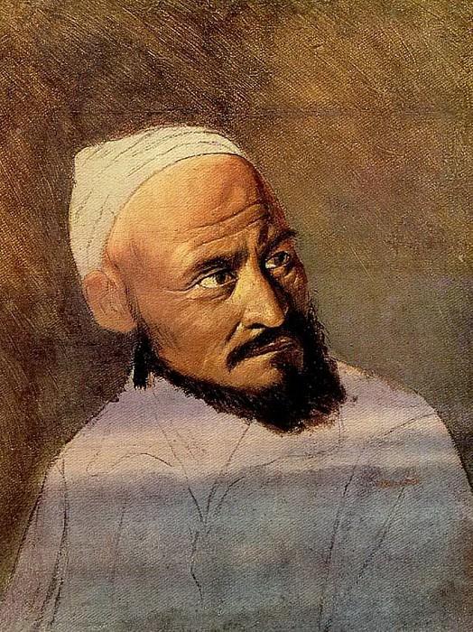 The head of the Kirghiz. Sketch. 1870 Irkutsk. Vasily Perov