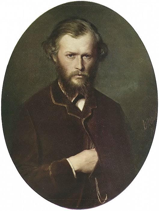 Portrait of NP Lanin. H. 1869, m. 83, 5h68, 8, Riga. Vasily Perov