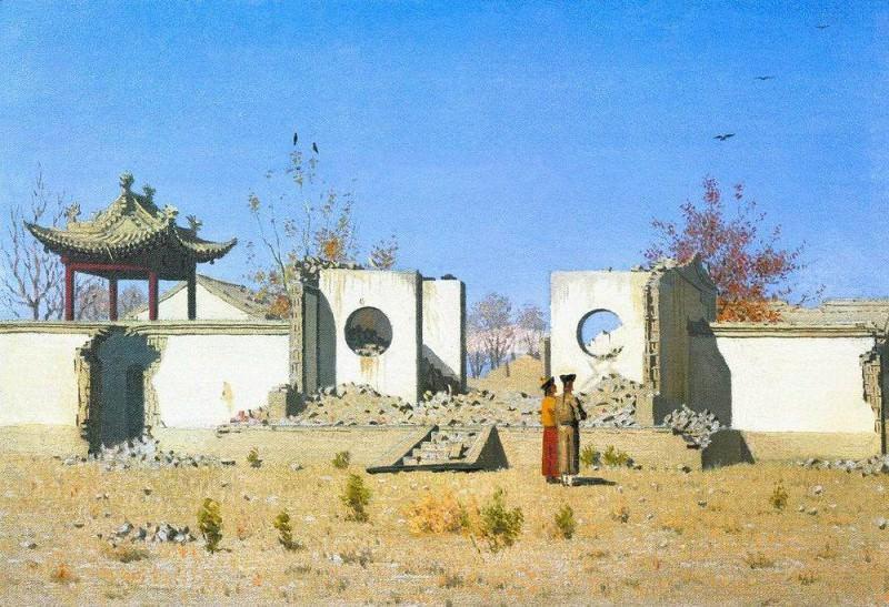 Ruins of Chinese pagodas. Ak-Kent. 1869-1870. Vasily Vereshchagin