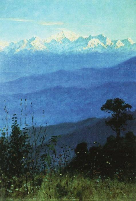 Himalayas in the evening. 1875. Vasily Vereshchagin