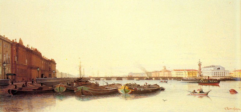 Weretshchagin Piotr Petrovitch A View Of St Petersburg. Vasily Vereshchagin