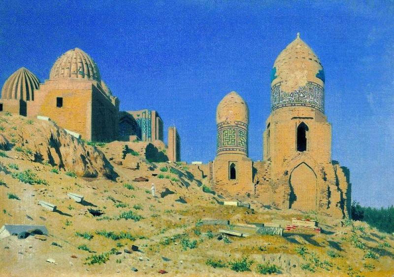 Mausoleum of Shah-i-Zinda in Samarkand. 1869-1870. Vasily Vereshchagin