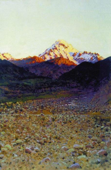 In the mountains. 1890. Vasily Vereshchagin