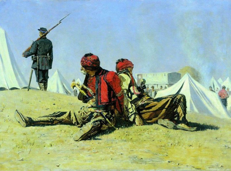 Two hawks (Bashi-Bazouke). 1878-1879. Vasily Vereshchagin