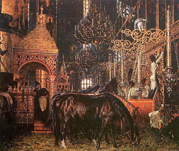 In the Assumption Cathedral. 1887-1895. Vasily Vereshchagin
