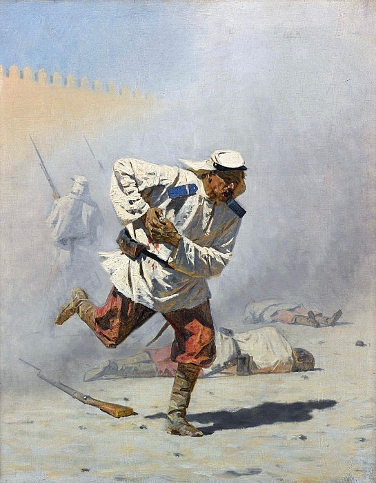 Mortally wounded. Vasily Vereshchagin