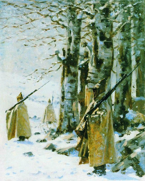 Picket in the Balkans. Around 1878. Vasily Vereshchagin