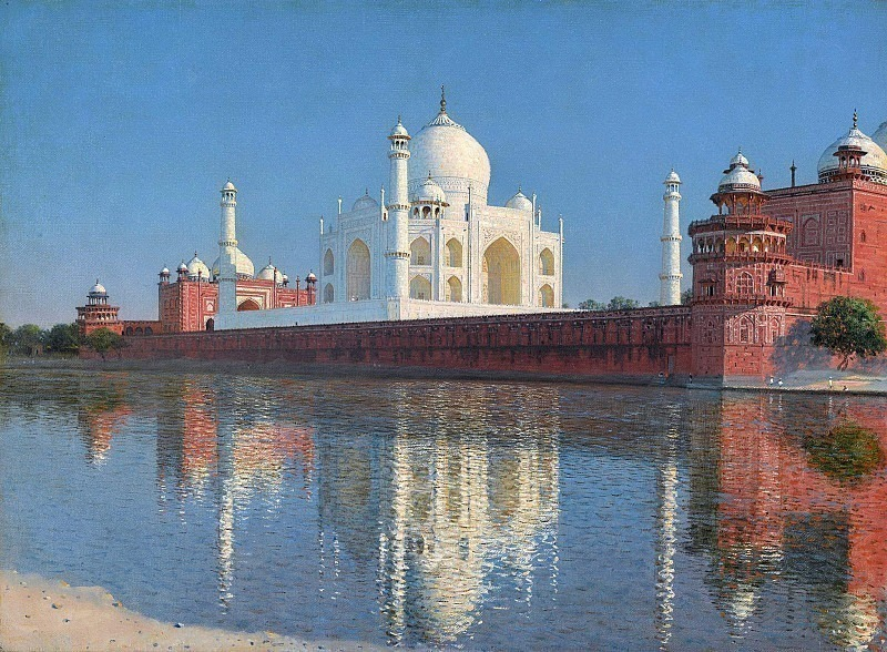 Taj Mahal Mausoleum in Agra. Vasily Vereshchagin