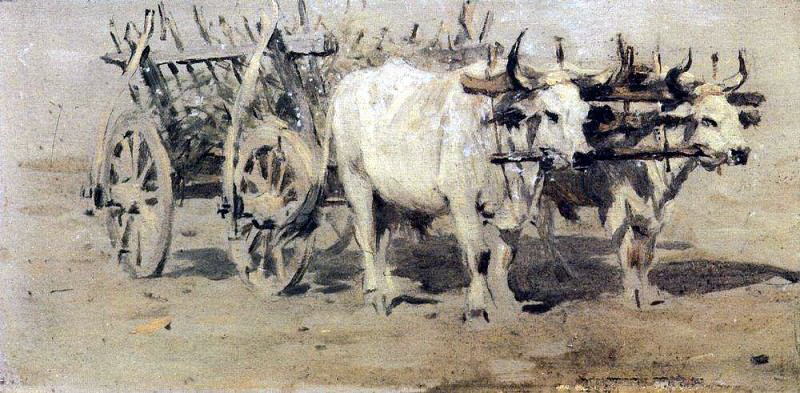 Телега для раненых. 1877. Василий Васильевич Верещагин