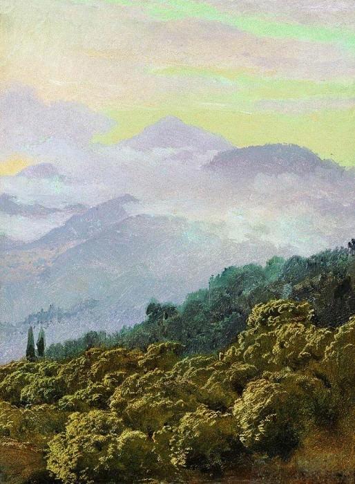 Type Crimean mountains. Vasily Vereshchagin