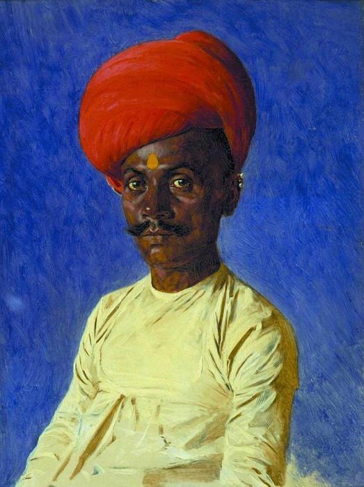 Bania (trader). Bombay. 1874-1876. Vasily Vereshchagin