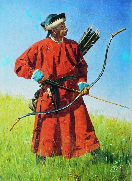 Бухарский солдат (сарбаз). 1873. Василий Васильевич Верещагин