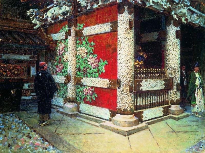 Shintoistsky temple in Nikko. Around 1904. Vasily Vereshchagin