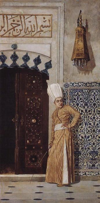 eunuch at the door of the harem. 1870. Vasily Vereshchagin