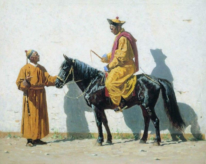 Kalmyk Lama. 1869-1870. Vasily Vereshchagin