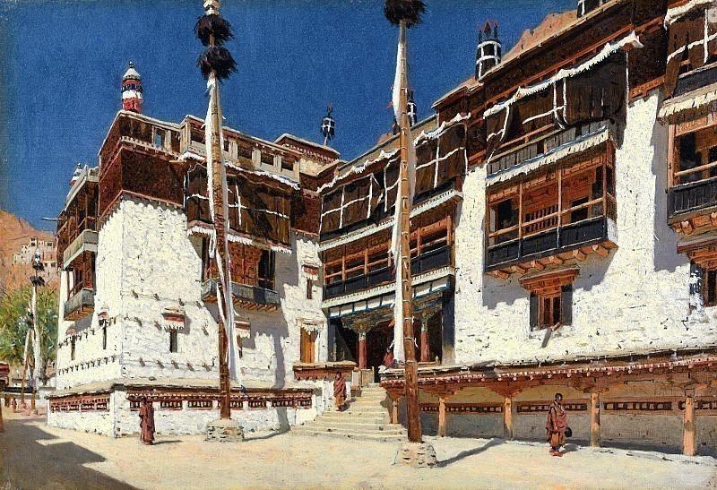 Hemis Monastery in Ladakh. Vasily Vereshchagin