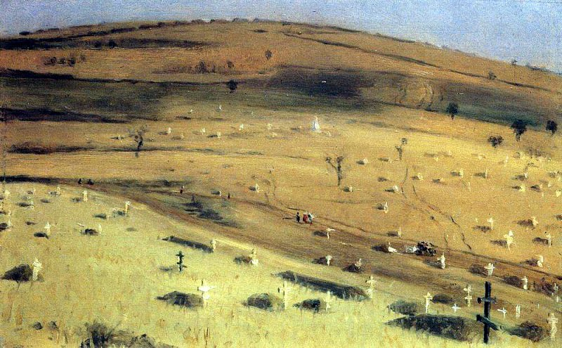 Place Battle July 18, 1877 before Krishinskim fort Plevna. 1877-1880. Vasily Vereshchagin