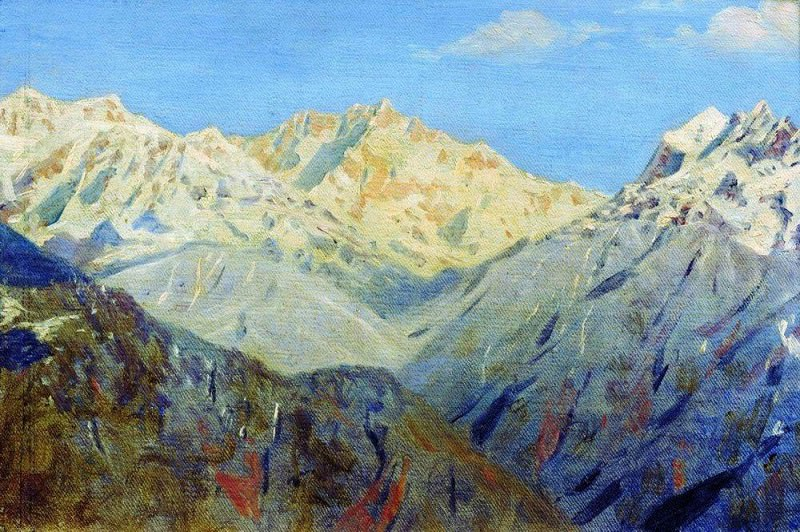 Himalayas. Main peak. 1875. Vasily Vereshchagin
