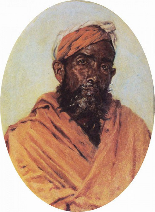 Muslim - servant. 1882-1883. Vasily Vereshchagin