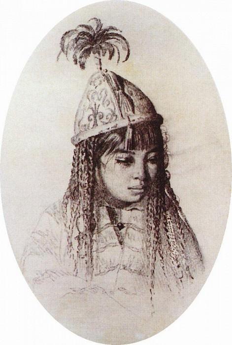 Kyrgyz girl. Vasily Vereshchagin