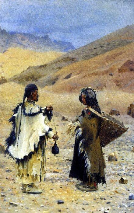 Living in West Tibet. 1874-1876. Vasily Vereshchagin
