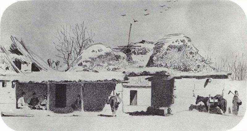 Постоялый двор близ Ташкента. 1867. Василий Васильевич Верещагин