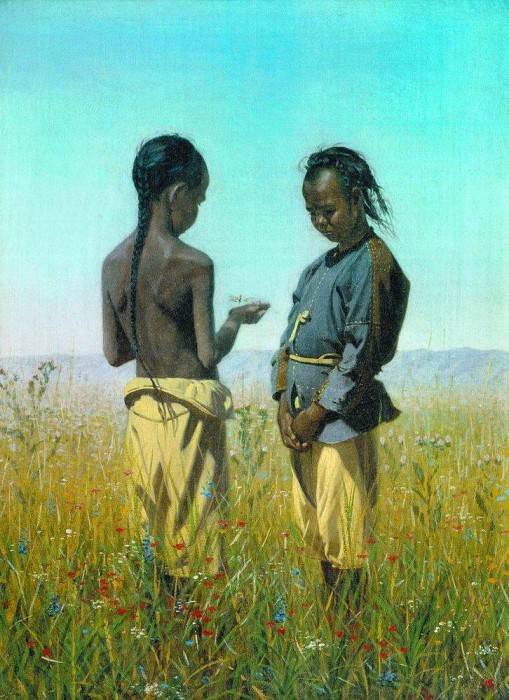 Kids tribe salty. 1869-1870. Vasily Vereshchagin