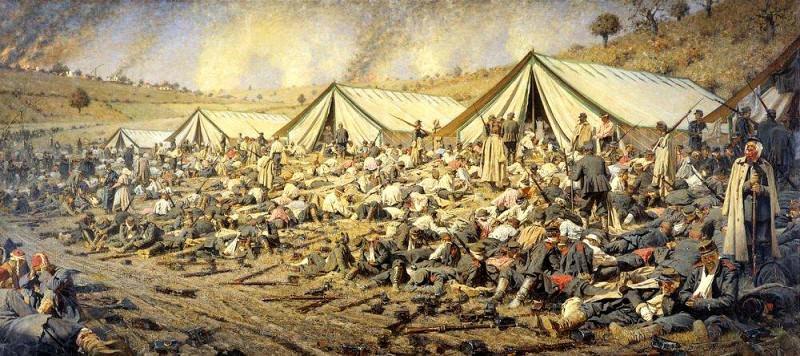 After the attack. Dressings item Plevna. 1881. Vasily Vereshchagin
