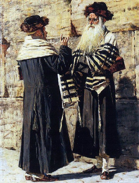 Two Jews. 1883-1884. Vasily Vereshchagin