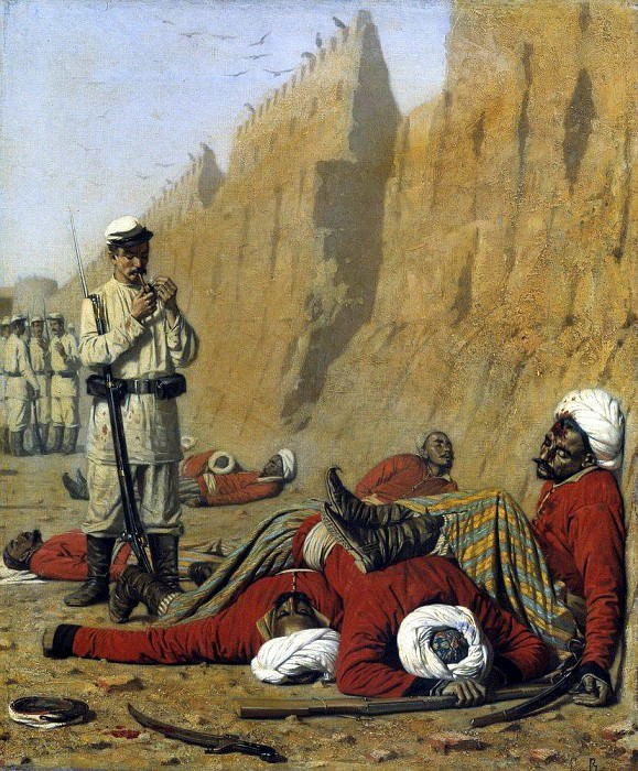 After setbacks. 1868. Vasily Vereshchagin