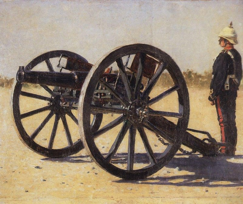 cannon. 1882-1883. Vasily Vereshchagin