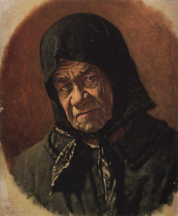 old woman beggar ninety-six years. Around 1891. Vasily Vereshchagin