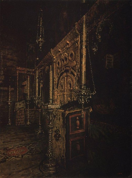 iconostasis of the Church of St. John the Divine on Ishne near Rostov Yaroslavsky. 1888. Vasily Vereshchagin