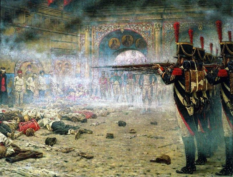In Defeated Moscow (Arsonists or shooting in the Kremlin). 1897-1898. Vasily Vereshchagin