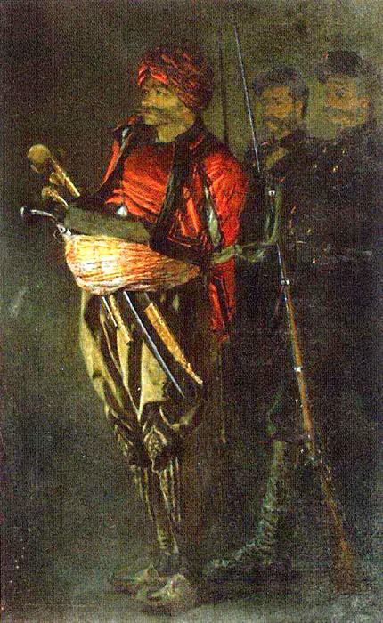 Bashi-Bazouk (Albanian). 1877-1878. Vasily Vereshchagin