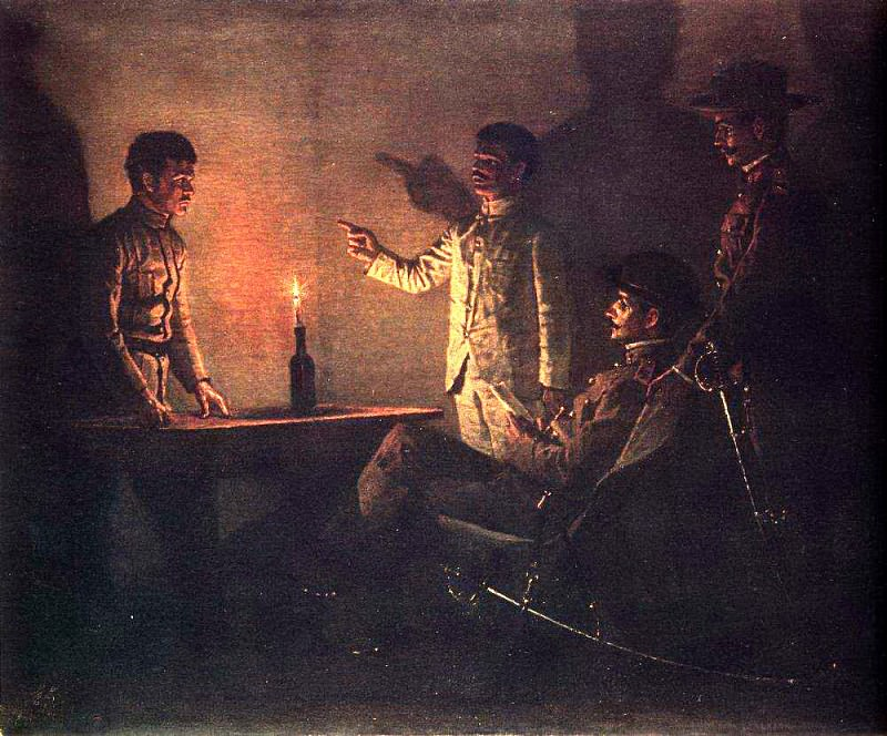 Interrogation defector. Around 1901. Vasily Vereshchagin