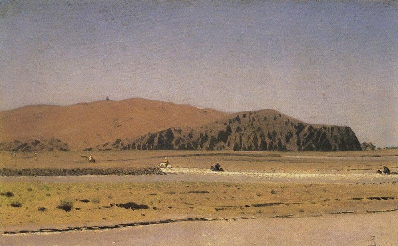 Horsemen, crossing a river. Vasily Vereshchagin