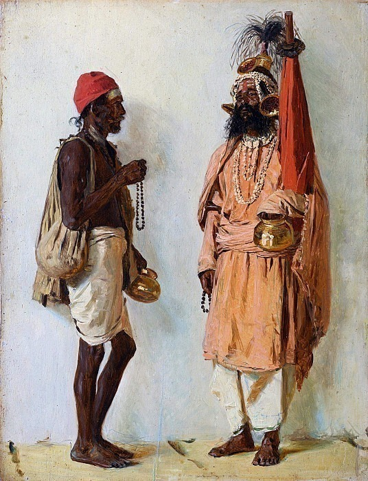 Two fakirs. Vasily Vereshchagin