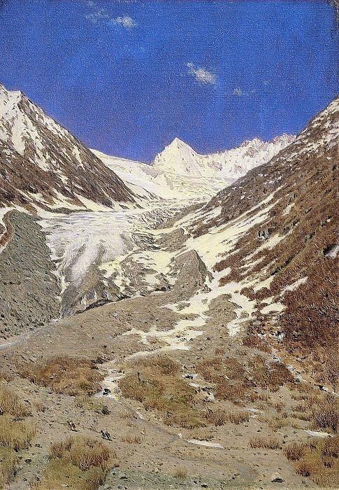 Glacier on the way from Kashmir to Ladak. Vasily Vereshchagin