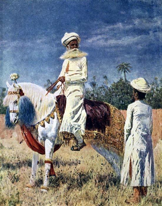rider in Jaipur. About 1880. Vasily Vereshchagin