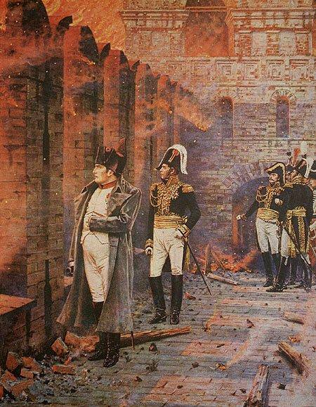 In the Kremlin - fire. 1887-1898. Vasily Vereshchagin