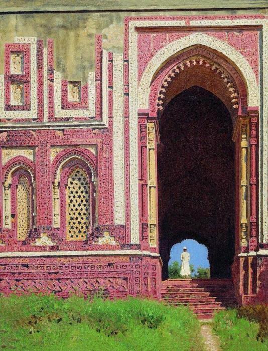 Gates near the Qutub Minar. Old Delhi. 1875. Vasily Vereshchagin