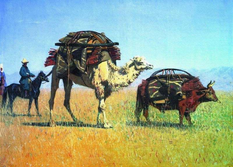 Kirghiz migrations. 1869-1870. Vasily Vereshchagin