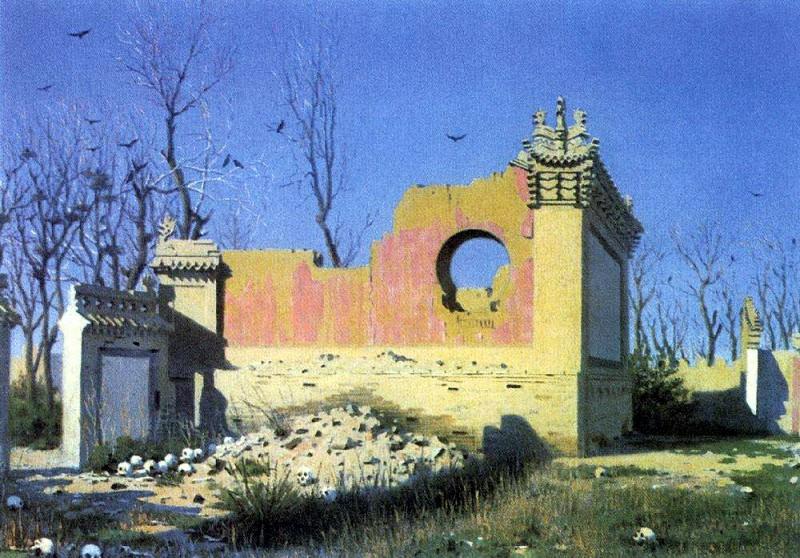 Ruins of the theater in Chugachuk. 1869-1870. Vasily Vereshchagin