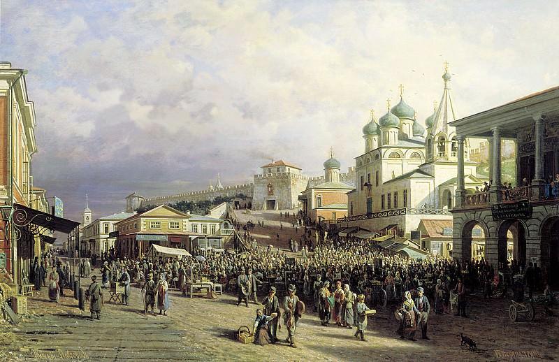 Рынок в Нижнем Новгороде. 1872. Холст, масло. 90х140 см. Vasily Vereshchagin