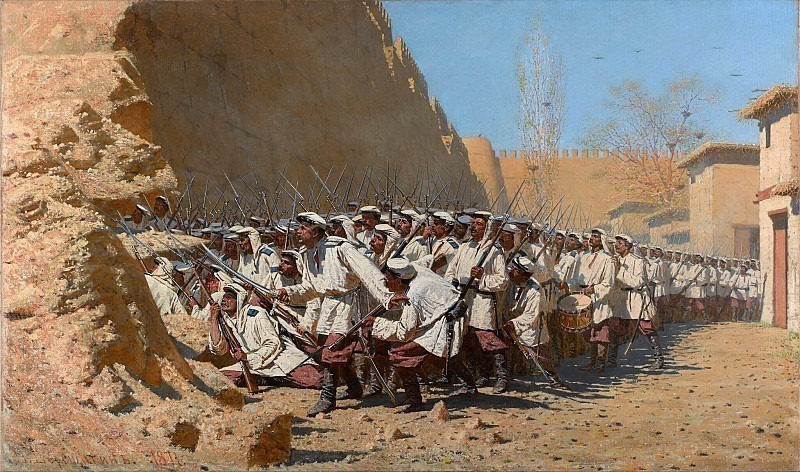 At the fortress wall. Let them come in. Vasily Vereshchagin